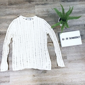 "[Asos] Beige ""Vintage"" Open Knit Top"